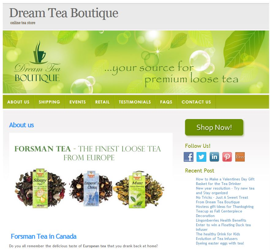Dream Tea Boutique